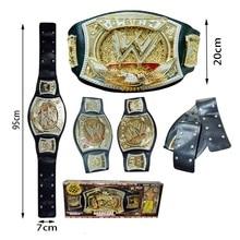 High Quality Wrestler Championship Belt Action Characters Figure Toys Occupation Wrestling Belt Gladiators Model Fans Child Gift