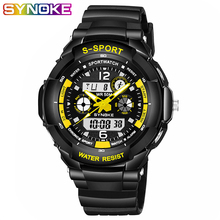 SYNOKE Watch Men Multi Function Military G style Shock Watches Mens Digital Man Fashion sport Fitness Excellent