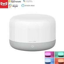 Yeelight – lampe de chevet intelligente LED D2, veilleuse colorée, lampe de Table, douce et lumineuse, commande vocale via application, pour Apple Homekit et Mijia