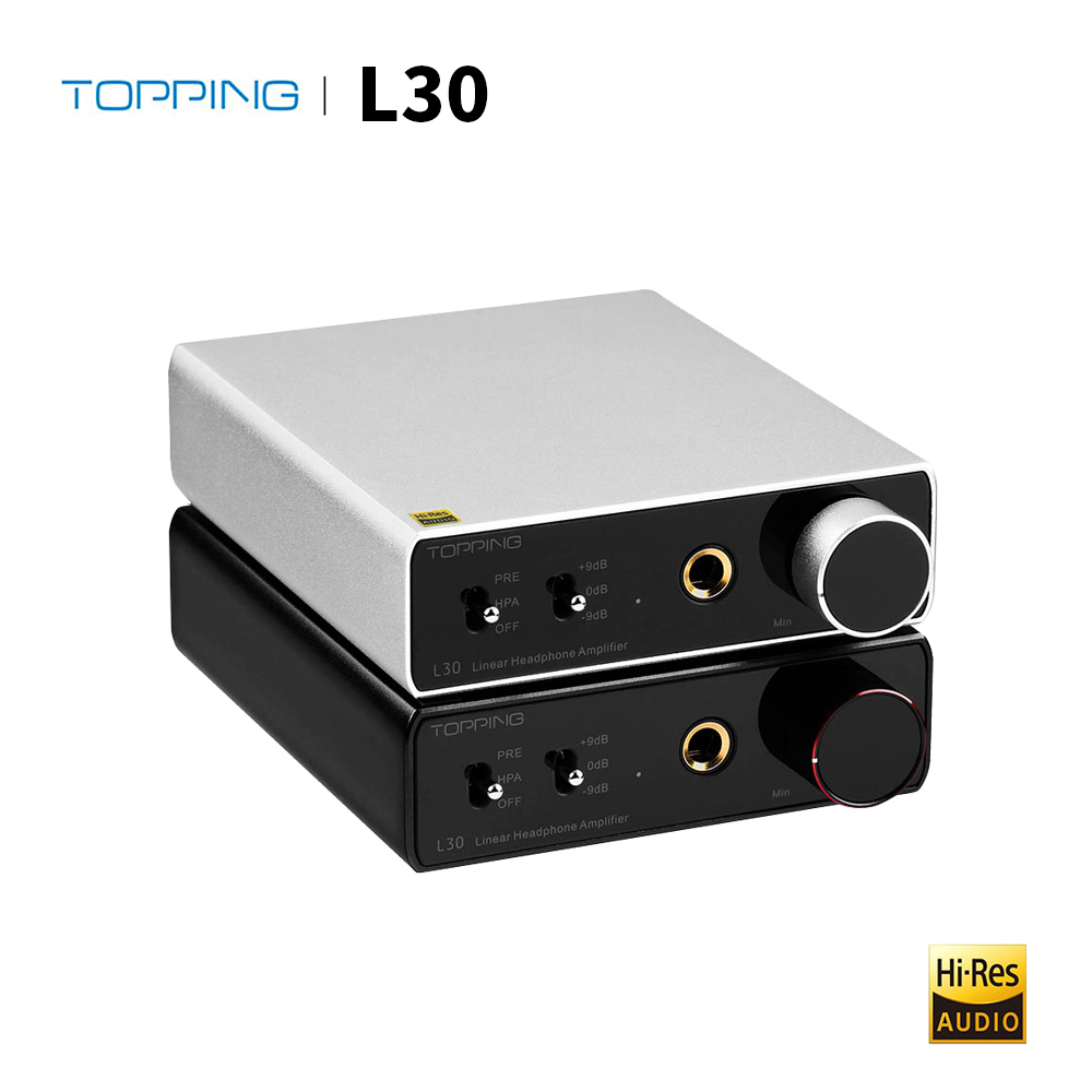 Cobertura l30 amplificador de fone de ouvido 6.35mm nfca alta fidelidade rca hi-res pré-amplificador para e30 dac