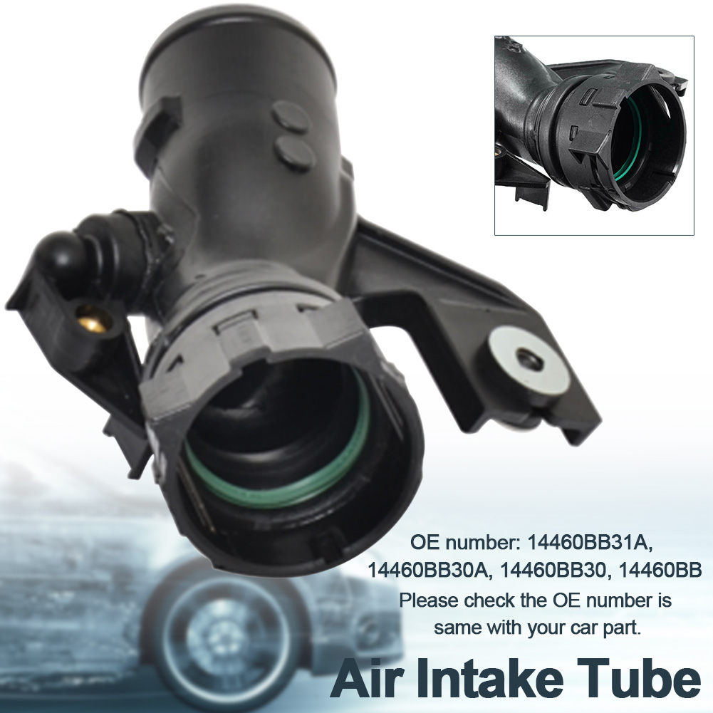 Flexible Replacement Repair Automotive Turbo Pipe Easy Install Air Intake Tube Durable Car Black Intercooler For NISSAN QASHQAI