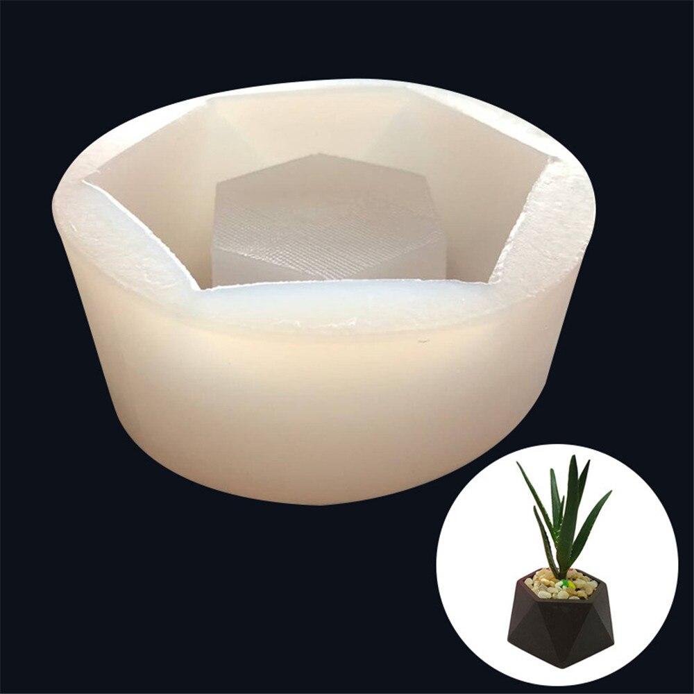 3D Vase Cement Pot Molds Flower Pot Geometric Shape Silicone Mold Handmade Succulent Concrete Mould Aroma Stone Moulds