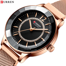 CURREN Charming Rhinestone Quartz Watch Fashion Design Watches Women Stainless Steel Band Clock Female Luxury reloj mujerWomens Watches