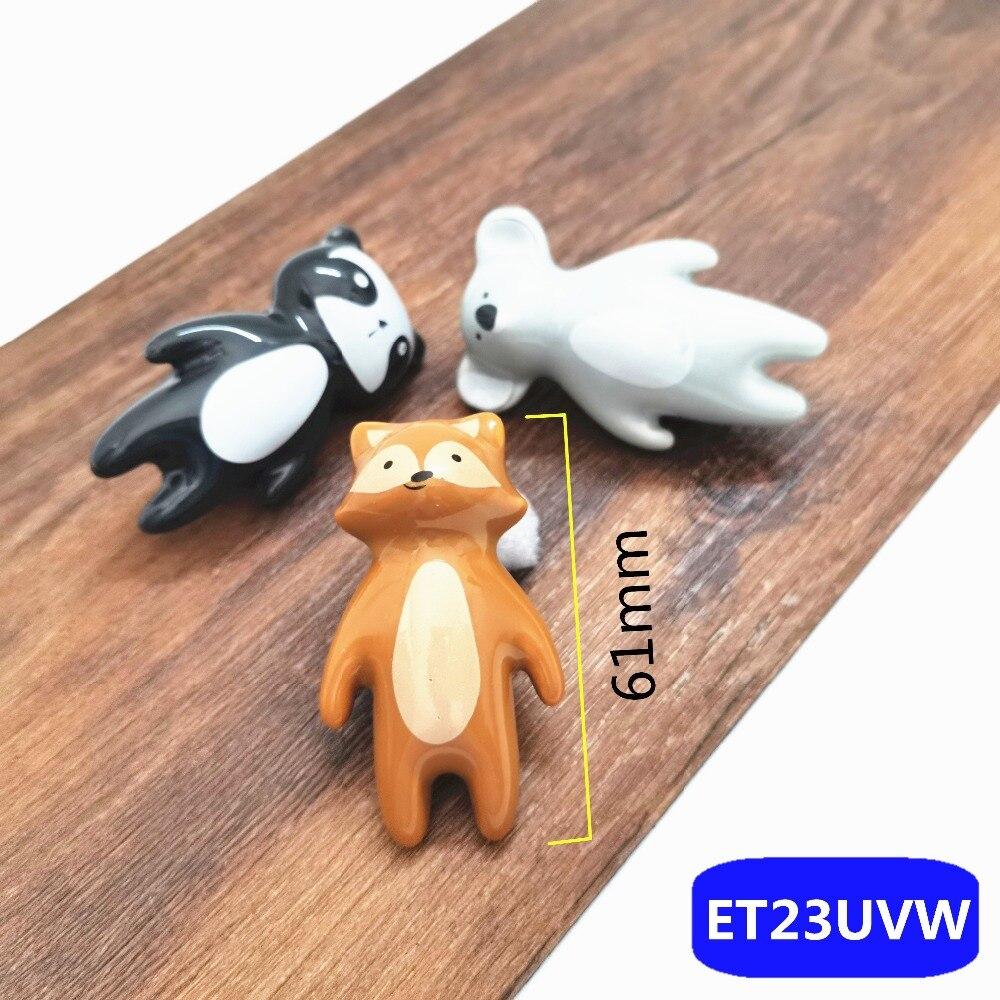 Мультяшные животные, детский керамический ящик, мебельные ручки, Детские милые ручки для шкафа, ручки для комода, милые ручки для шкафа