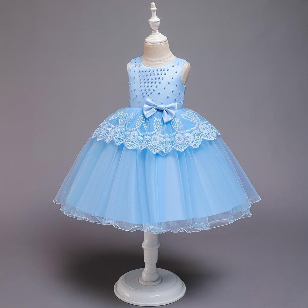 2020 Flower Girl Dress  First Communion Dresses For Girls Elegant Sleeveless Sequined Christmas Ball Gowns
