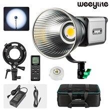 Weeylite ninja 300 led luz de vídeo contínua 80w cri 95 + branco bowens montagem controle remoto para gravação vídeo fotografia