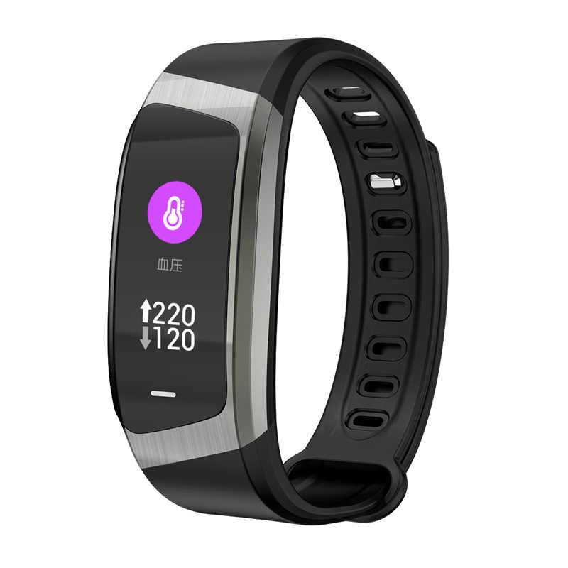 IP67 banda inteligente impermeable Monitor de ritmo cardíaco recordatorio de información reloj de alarma pulsera deportiva de Fitness E18 pulsera de correa de TPU