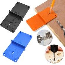 35mm 40mm agujero de la bisagra guía de perforación localizador perforadora puerta gabinetes DIY herramientas para carpintería conjunto de herramientas de mano