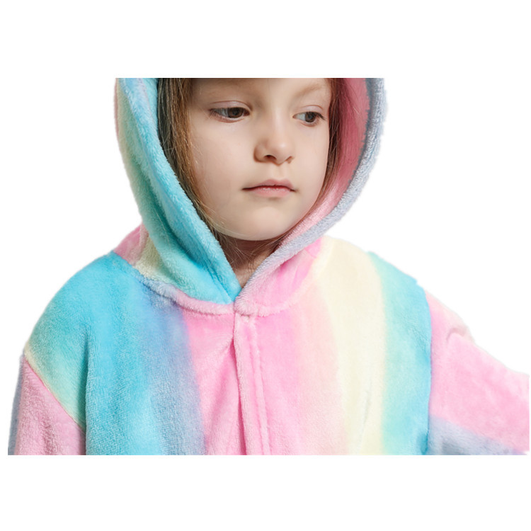 New Style Bathrobe Flannel Animal CHILDREN'S Pajamas CHILDREN'S Bathrobes Tianma Bathrobe Rainbow Tianma Bathrobe