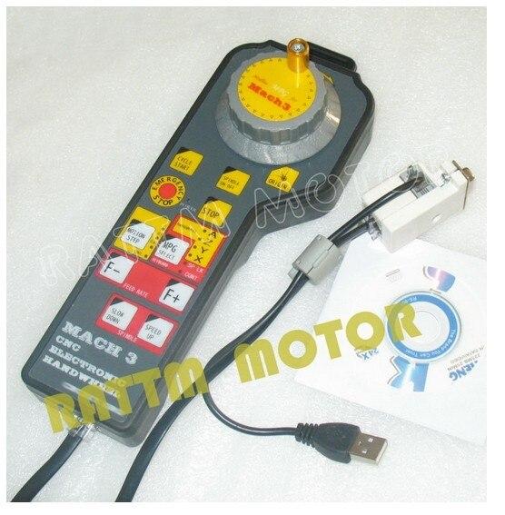 Nouveau MACH3 CNC USB électronique volant manuel contrôleur CNC machine de gravure raccords interface panneau générateur d'impulsions