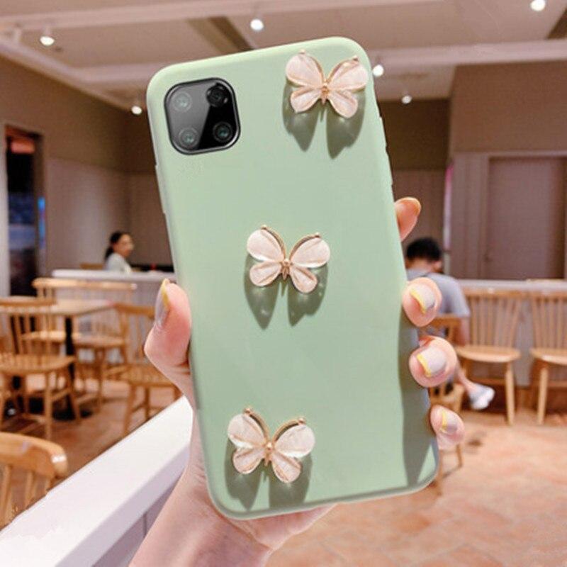 Конфеты цвет силиконовые телефон чехол для iPhone 11 саморепрезентация 2020 х ХС 11 хз Макс 7 8 6 6 S плюс 5 5s бабочка Алмаз чехол