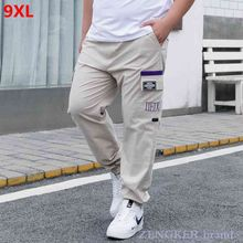 Summer casual pants men plus size ankle-length pants men's