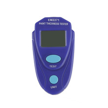 Mini Coating Digital Painting Thickness Tester Meter Mini LCD Automotive Data Hold Car Coating Thickness Gauge without Battery