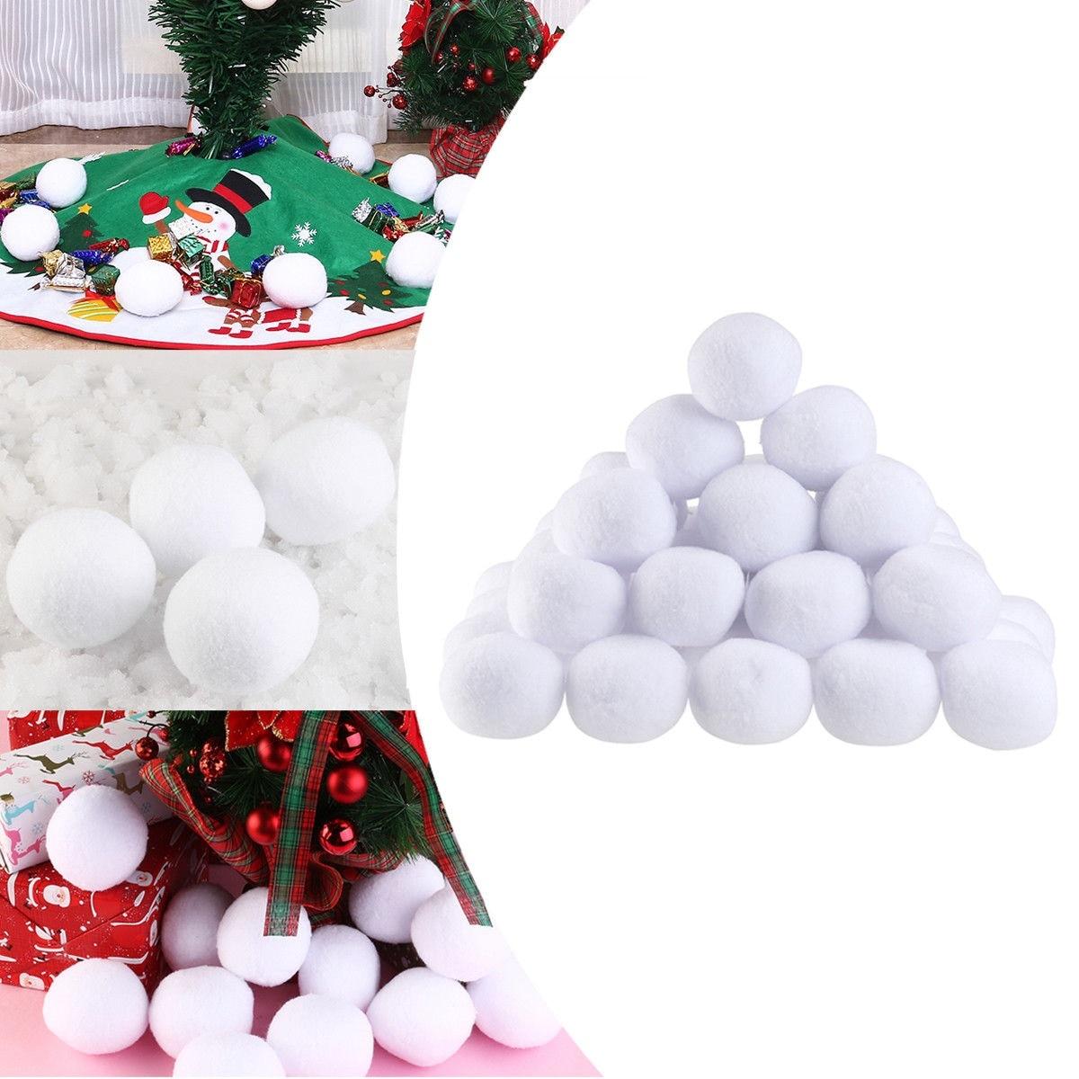 10 шт. 7 см рождественские снежки внутри реалистичные мягкие плюшевые снежные шары рождественские украшения