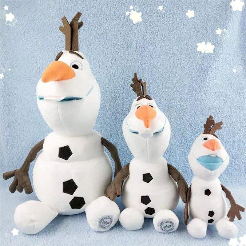 Disney Movies Frozen 2 50cm Olaf Plush Kawaii Snowman Cartoon Cute Plush Stuffed Animals Doll Toys Brinquedos Juguetes