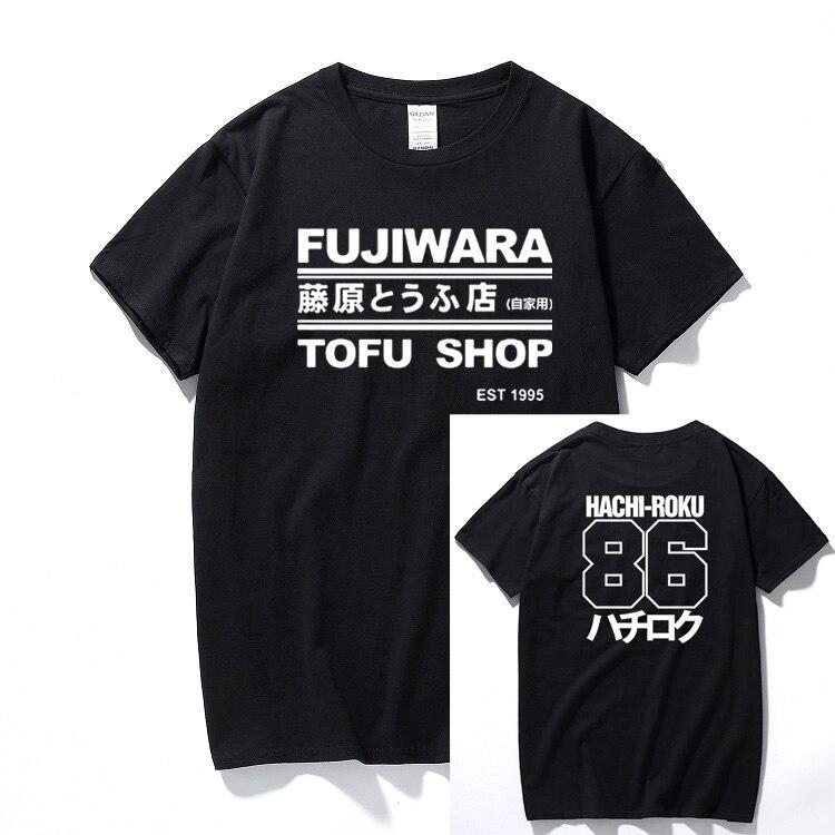 이니셜 d 만화 하치 로쿠 시프트 드리프트 남성 티셔츠 타쿠미 후지와라 두부 배달 ae86 남성 의류 브랜드 티셔츠