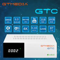 Gtmedia GTC,Android TV Box, Gebaut-in WiFi, satellite TV Receiver Decoder DVB-S2/T2/C 2GB + 16GB, unterstützung 3D 4k HD TV Box,ccam Spanien