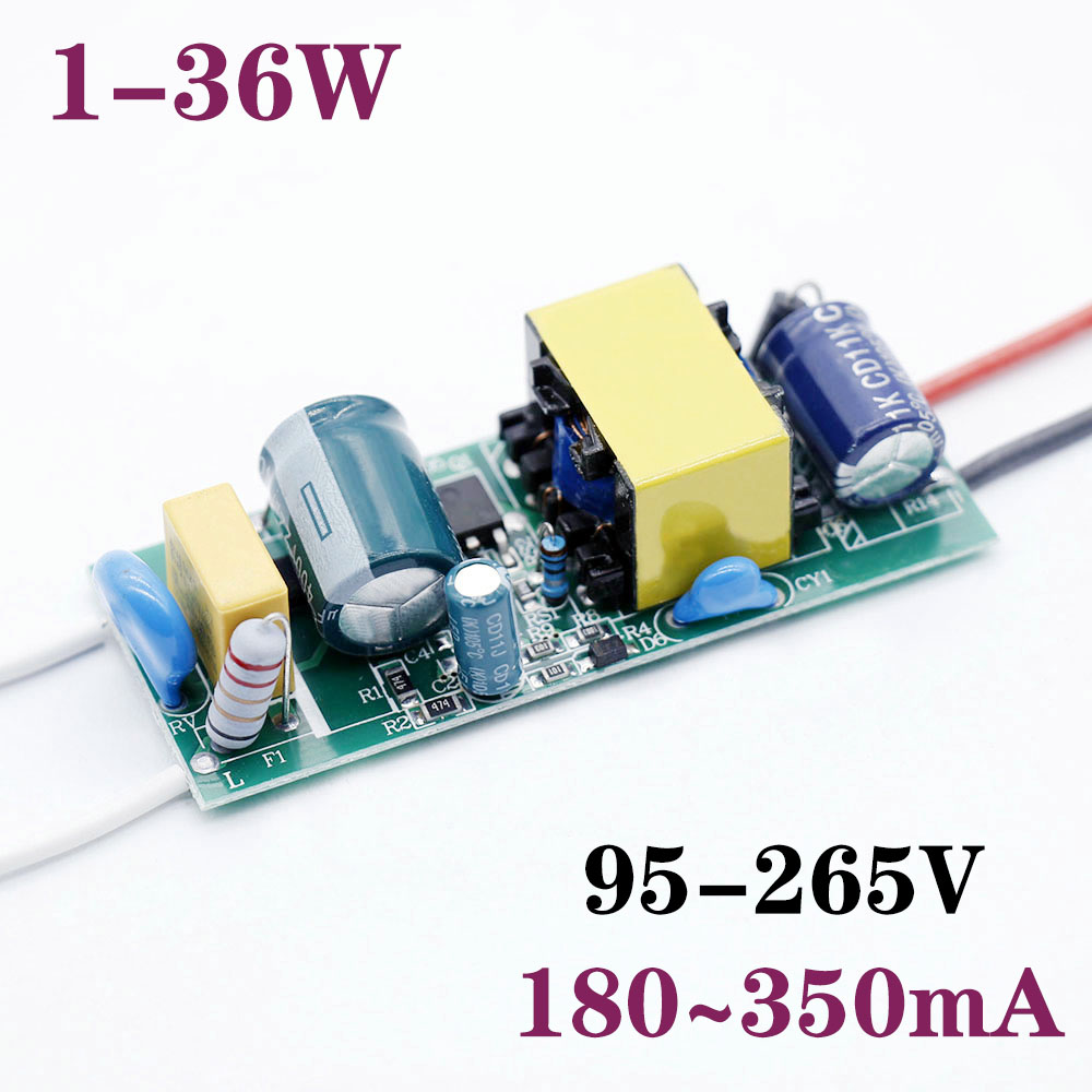 LED Driver 300mA 350mA 1W 3W 5W 7W 8W 9W 10W 12W 18W 25W 36W For LEDs Power Supply Lighting Transformer For LED Repair DIY