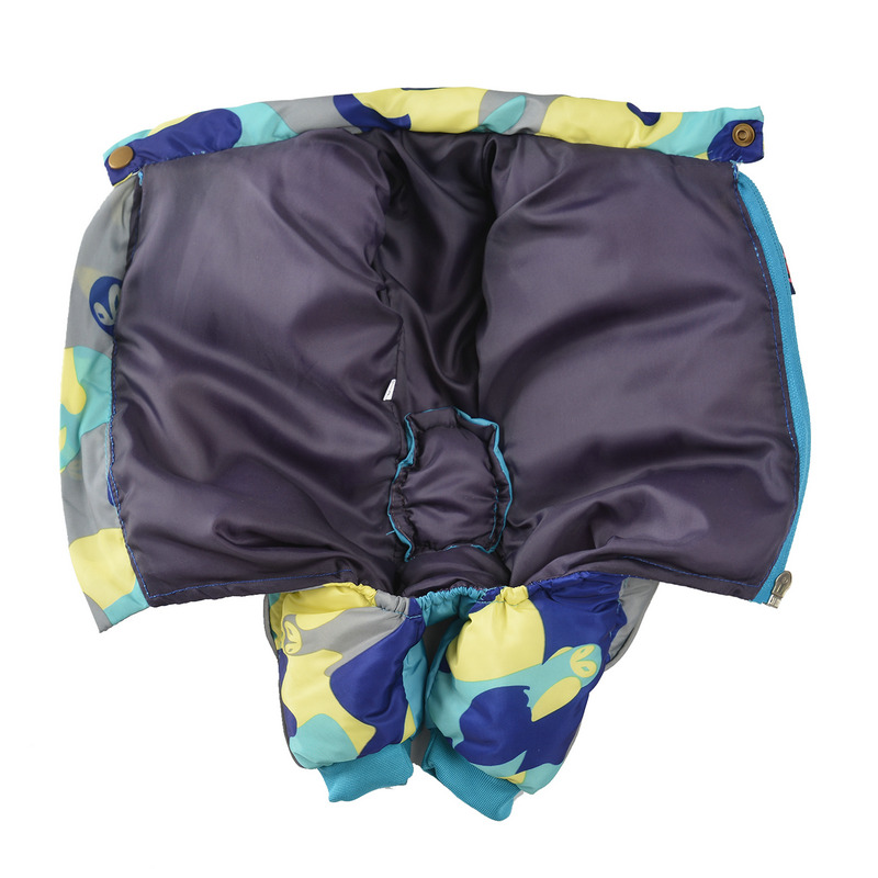 Reflective and Warm Dog Jacket and Waterproof Winter Dog Clothing with Strong Zipper and D-Ring 14