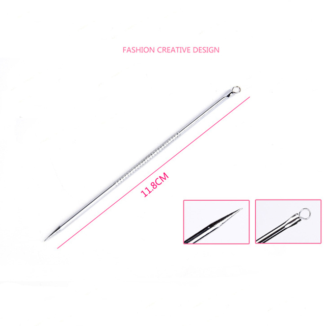 4pcs Stainless Steel Acne Removal Needle Blackhead Remover Needle For Health Care Facial Cleansing Blackhead Extraction Tool Set 4