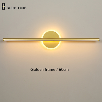 Golden Frame LED Wall Lamps For Bathroom Bedside Lights New Arrivals Mirror Front Light Modern LED Wall Lights Indoor Lighting modern 12w 62cm long square indoor crystal led wall light banheiro deco bathroom mirror lights wall sconce lamps for home