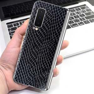 Maya Diamond Crocodile Grain Skin Film Wrap Skin Phone Back Sticker For SAMSUNG Galaxy Fold W20 W2019 W2018 W2017 W2016 G9298