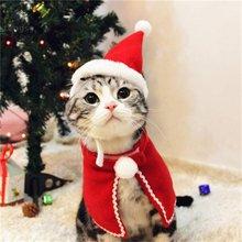 Забавная Рождественская одежда теплая для собак и кошек красный