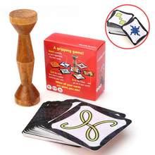 2020 tahta oyun kahverengi ahşap orman jetonu hızlı koşmak çift hızlı orman aile partisi için eğlenceli kart oyunu İngilizce İspanyolca kuralları