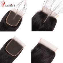 Straight Lace Closure Pre Plucked With Baby Hair Natural Hairline Brazilian Remy Human