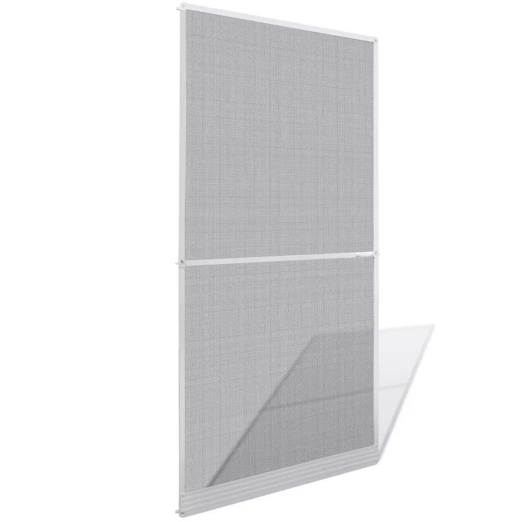 VidaXL moustiquaire à charnière blanche pour portes 100X215 Cm 141563 cadre en Aluminium filet en fibre de verre ajusté pour s'adapter à n'importe quelle taille de porte