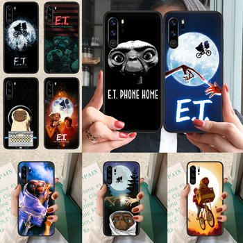 E.T. The Extra-Terrestrial Phone case For Huawei P Mate Smart 10 20 30 40 Lite Z 2019 Pro black funda trend prime painting image