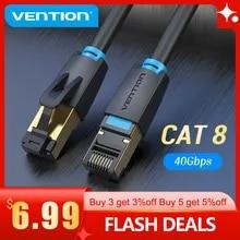 Vention Cat8 이더넷 케이블 SSTP 40Gbps 2000MHz Cat 8 RJ45 네트워크 Lan 패치 코드 라우터 모뎀 인터넷 RJ 45 이더넷 케이블