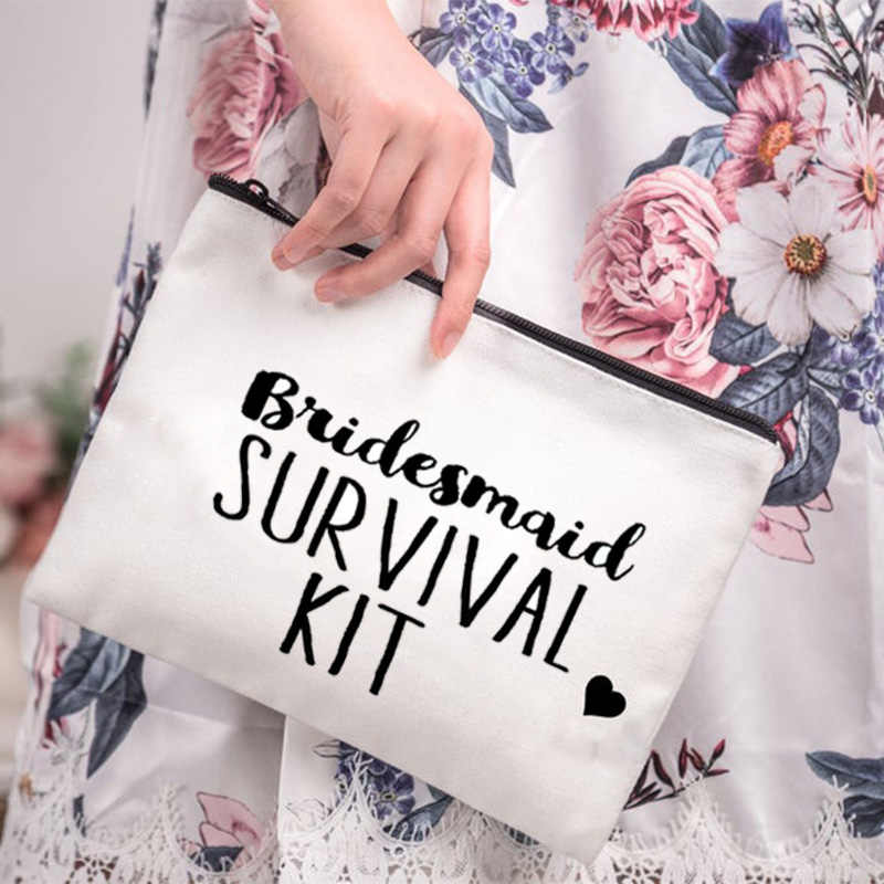 bridesmaid Recovery kit gift Cosmetic makeup Bag Bachelorette hen Party bridal shower Wedding engagement bride to be decoration