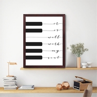 كريستيان أغنية غنائي طباعة هو جيد مع روحي الموسيقى المشارك لوحة مفاتيح البيانو الفن قماش اللوحة صورة المنزل جدار ديكور فني