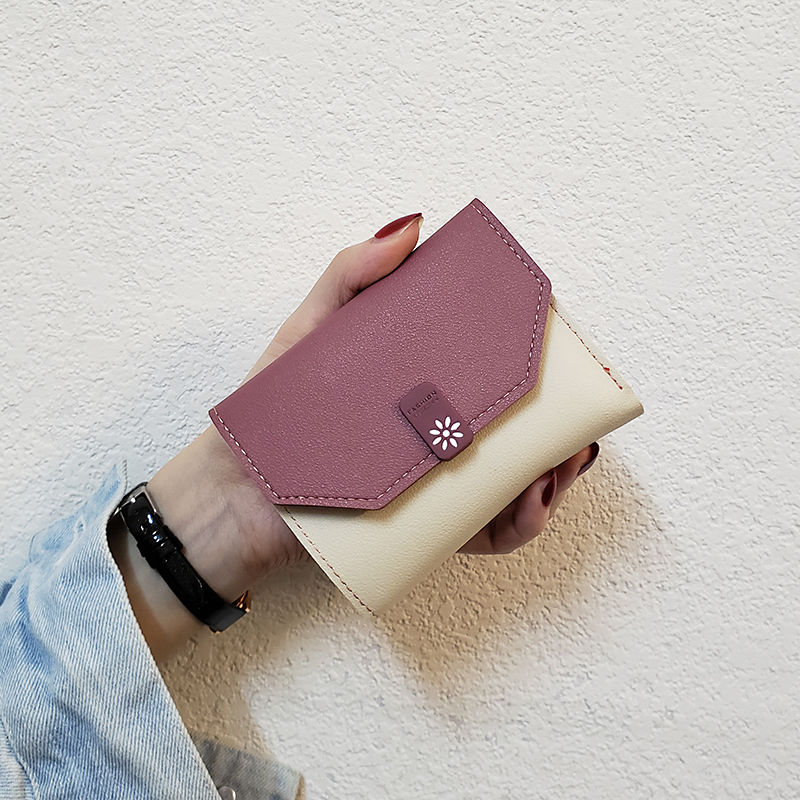 Cute Wallets Leather Women Wallets Fashion Short wallet Student Coin Purse Card Holder Ladies Clutch Bag Cat Small Female Purse