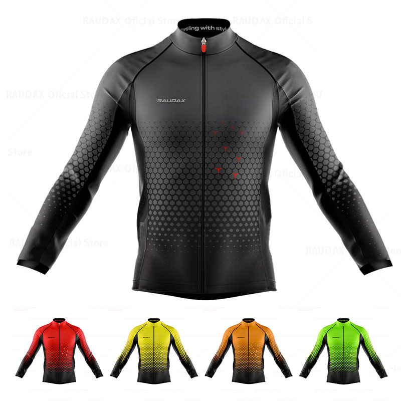 Mens Long Sleeve Cycling Jersey MTB Mountain Bike Top Cycle Shirt Breathable