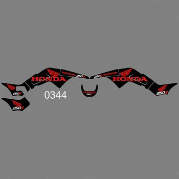 New Full Graphics Decals Stickers Custom Number Name Glossy Bright Stickers Waterproof for HONDA TRX250R ATV