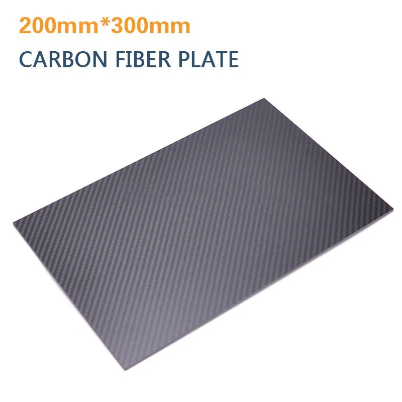300mm*500mm*2.0mm Matte Surface Carbon Fiber plate panel sheet FOR RC Plane #