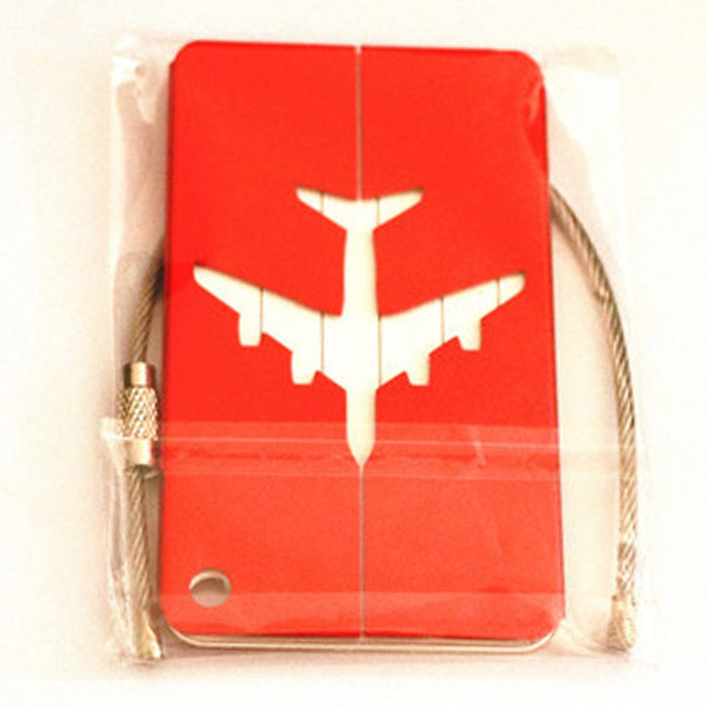 High Quality Metal Luggage Tag Aluminum Alloy Multi Colors Various Types Of Air Plane Travel Tags Identity Card