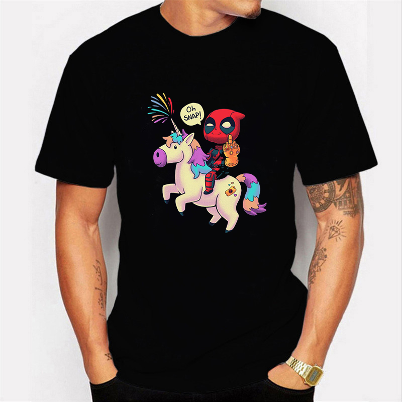 2019 Harajuku T-shirt Deadpool T Shirt Casual Short Male Tops I Am Unicorn Letter Cool Men Clothes Streetwear Camisetas Hombre
