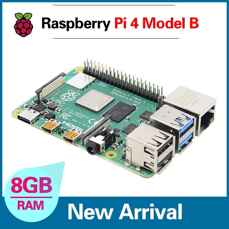 Mais novo raspberry pi 4 modelo 4b 8 gb bcm2711 quad-core Cortex-A72 1.5 ghz 1 gb/2 gb/4 gb ram com banda dupla wifi suporte bluetooth poe