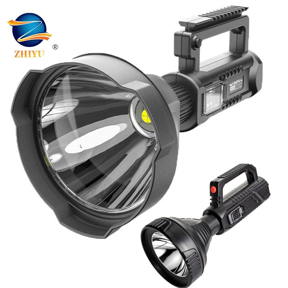 Мощная Вспышка светильник фонарь USB Перезаряжаемые тактическая охотничья вспышка светильник Перезаряжаемые светильник светодиодный вспы...