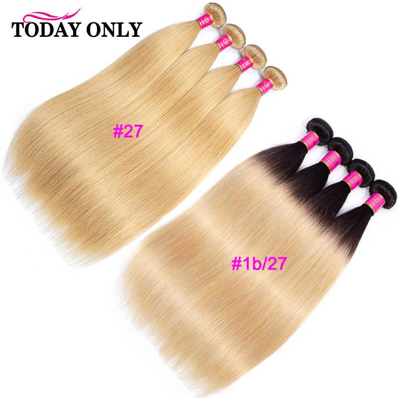 HEUTE NUR 1/3/4 Bundles Peruanische Gerade Haar Bündel Remy Menschenhaar Bundles Ombre Honig Blonde Burgund 1B/Grau 613 Bundles