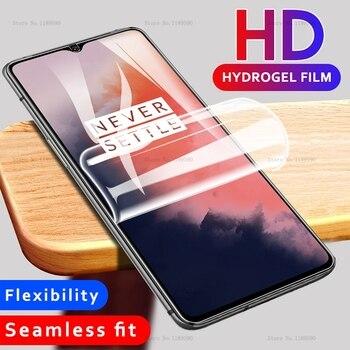 Película adhesiva de hidrogel de silicona blanda y transparente frontal para OnePlus 7 7T Pro 7 t 6T 7Pro Protector de pantalla de TPU transparente película hidrogel