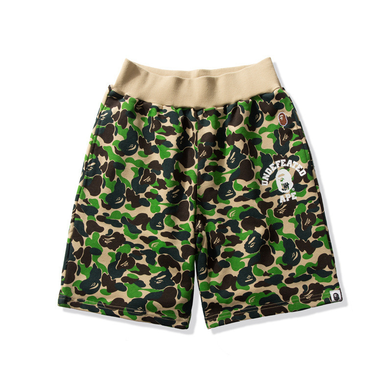 Japanese-style Popular Brand Hooded-Camouflage Color Printing Casual Shorts Teenager Students Cool Summer Shorts