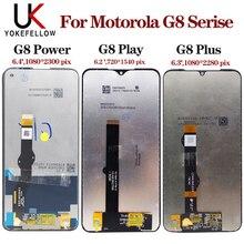 สำหรับMotorola Moto G8 Play XT2015 XT2015 จอแสดงผลLCDหน้าจอสัมผัสแท่นพิมพ์AssemblyจอแสดงผลสำหรับMotorola Moto G8 Plus G8 power