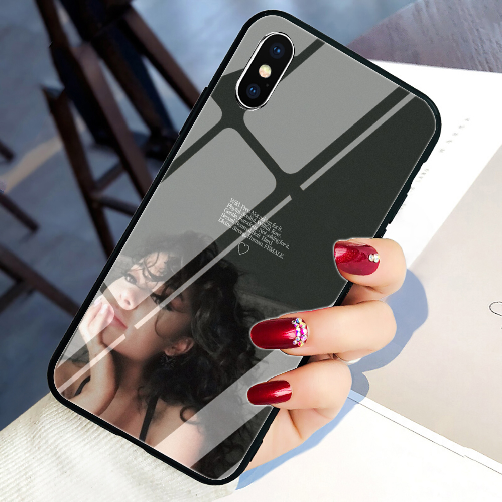 <font><b>Ariana</b></font> <font><b>Grande</b></font> Tempered Glass Phone Cover <font><b>Case</b></font> for <font><b>iphone</b></font> 5 5S SE 2020 6 <font><b>6S</b></font> 7 8 plus X XR XS 11 Pro Max image