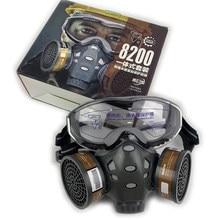Полнолицевая респираторная маска с безопасным спреем краски, химические пестициды, украшение, формальдегид, пылезащитный респиратор с фил...