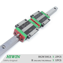 HIWIN HGW30 Block Linear Guides Rail 500 600 700 800mm Machine Parts set with ballscrew for Z axis CNC HGR30 Parts