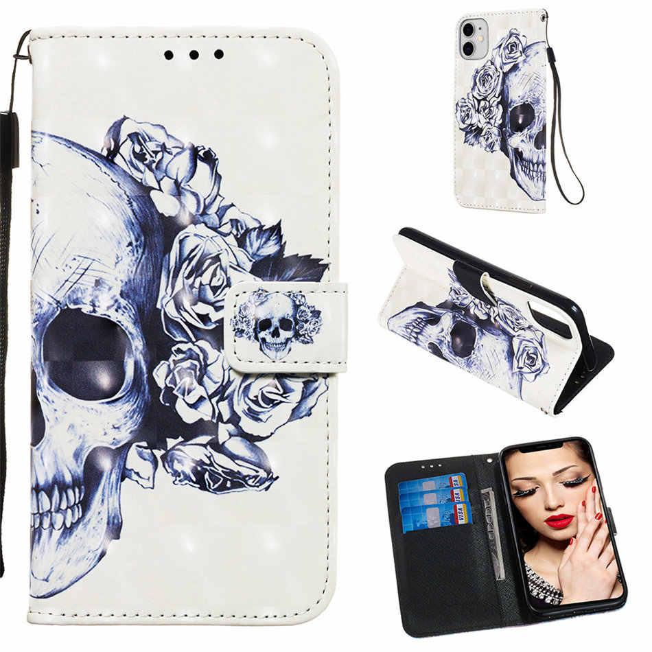Dziewczyna śliczne etui na telefon z klapką do torby Nokia 6.1 7.1 dla Nokia 6 7 2018 kucyk sowa stojak portfel Case dzieci Capa Orchid Lady Coque O03E